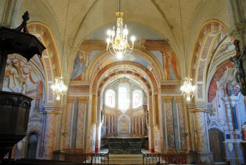 Aubigné_peintures murales de l'église_© Commune d'Aubigné-sur-Layon
