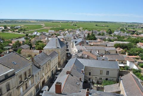 Le Puy_vue du village depuis le panorama <sup>©</sup>PCC49