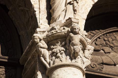 Saint-Calais_détail église ND_crédit J.-P. Berlose