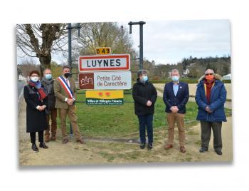 Inauguration panneau PCC Luynes